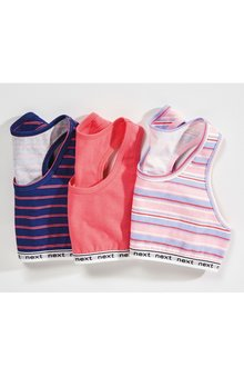 Next Stripe Crop Tops Three Pack (Older)