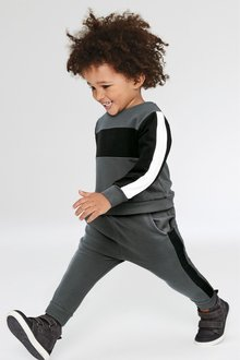 Next Colourblock Crew And Joggers Set (3mths-7yrs)