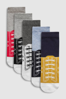 Next Trainer Look Socks Five Pack (Younger)