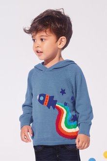 Next Rainbow Rocket Hoody (3mths-7yrs)