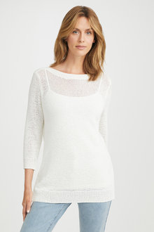 Capture Cotton Blend Sweater - 224885