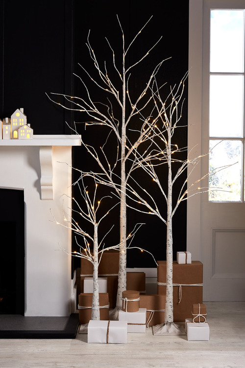 Prelit Birch Tree