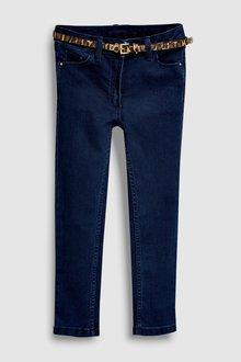 Next Skinny Jean With Animal Print Belt (3-16yrs)