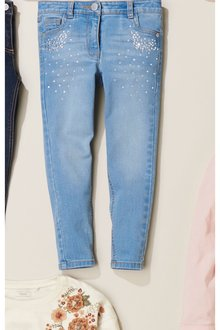 Next Crystal Effect Skinny Jeans (3-16yrs)