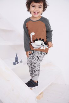 Next Dino T-Shirt And Joggers Set (3mths-7yrs)