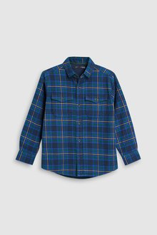 Next Long Sleeve Check Jersey Lined Shirt (3-16yrs)