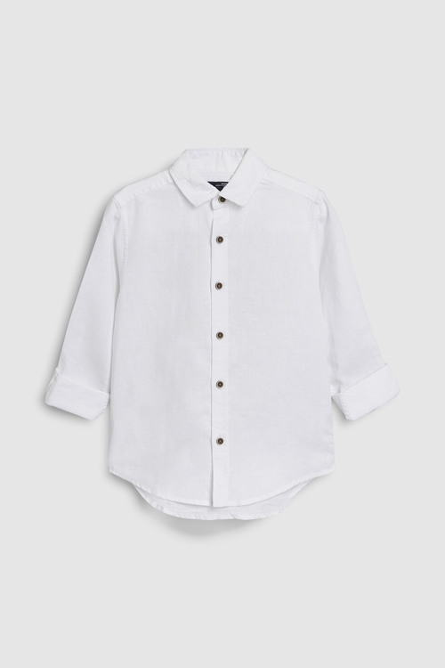 Next Long Sleeve Linen Mix Shirt (3-16yrs)