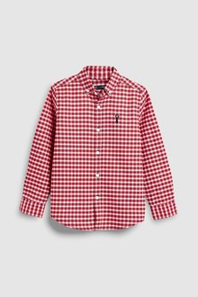 Next Long Sleeve Gingham Oxford Shirt (3-16yrs)