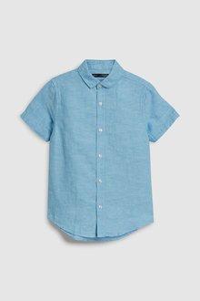 Next Short Sleeve Linen Mix Shirt (3-16yrs)
