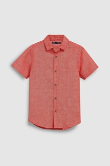 Next Short Sleeve Linen Mix Shirt (3-16yrs)