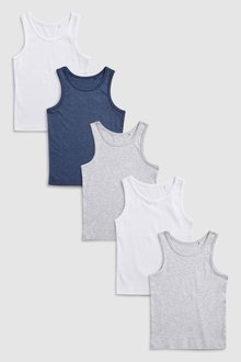 Next Vests Five Pack (1.5-16yrs)