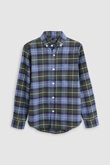 Next Long Sleeve Check Oxford Shirt (3-16yrs)