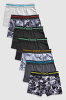 Next Camouflage Trunks Seven Pack (2-16yrs)
