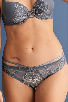 Next Lace Brazilian Knickers