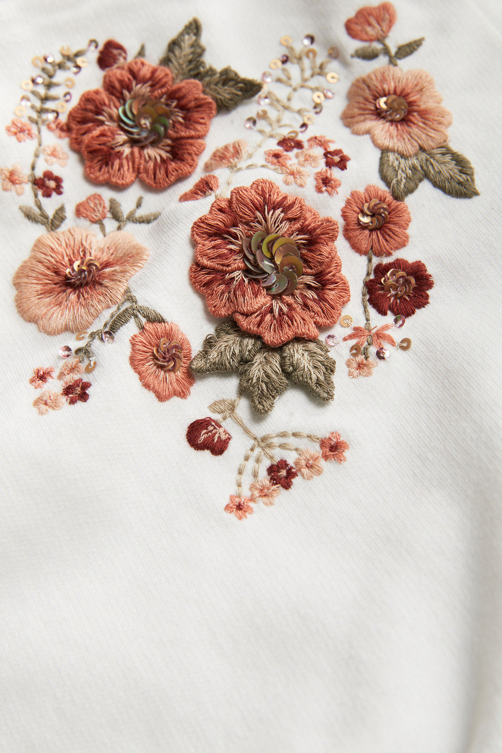 46ff77597ac7 Next 3D Floral Embroidered Crew (3-16yrs) Online