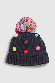 Next Pom Bobble Beanie Hat (Younger)