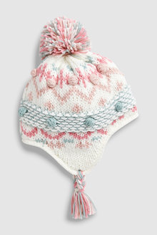 Next Patterned Pattern Trapper Hat (Younger)