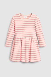 Next Stripe Brushed Dress (3mths-7yrs)