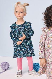 Next Long Sleeve Ditsy Dress (3mths-7yrs)