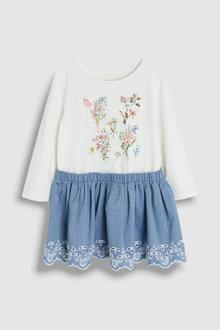 Next Floral Broderie Dress (3mths-7yrs)