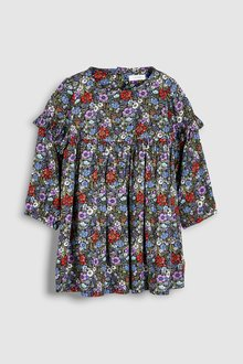 Next Button Back Dress (3mths-7yrs)