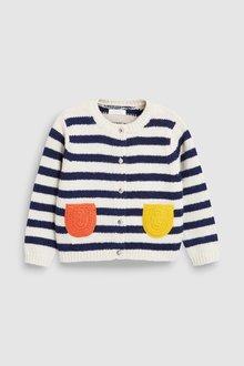 Next Breton Stripe Cardigan (3mths-7yrs)