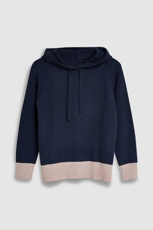 Next Knitted Hoody With Cashmere