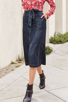 Next Belted A-Line Midi Skirt-Tall