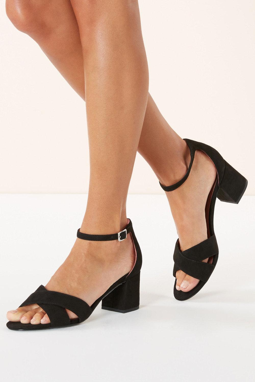 8de88c4afb5 Next Cross Over Block Heel Sandals Online   Shop EziBuy