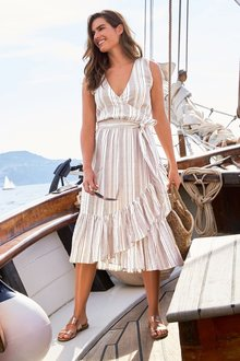 Next Stripe Wrap Dress