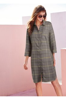 Next Check Shirt Dress - 225923