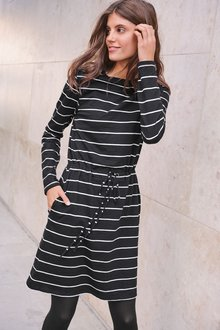 Next Stripe Tie Waist Dress