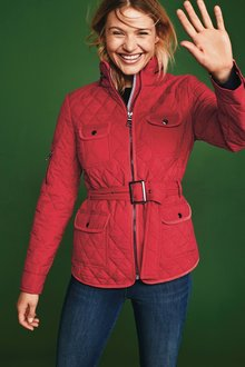 Next Belted Quilted Jacket-Tall