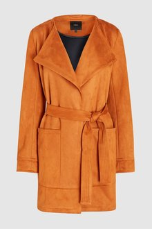 Next Suedette Waterfall Jacket-Tall