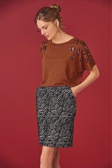 Next Jacquard Skirt-Tall