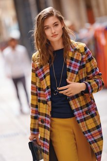 Next Bright Check Coat