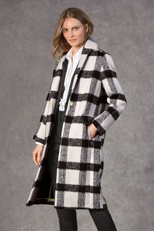 Next Revere Collar Check Coat