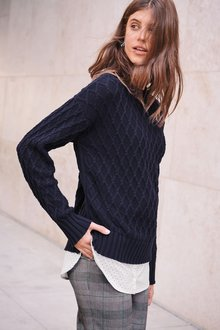 Next Cable Layer Sweater-Petite