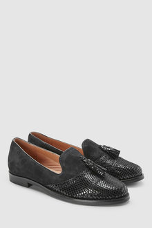 Next Leather Tassel Loafers
