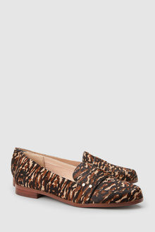 Next Leather Stud Loafers