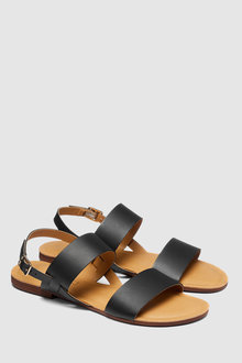 Next Forever Comfort Two Band Slingback Sandals