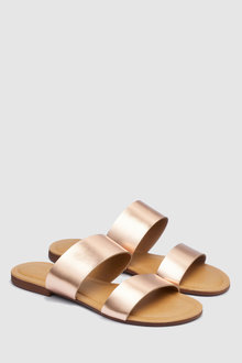 Next Forever Comfort Two Band Mule Sandals