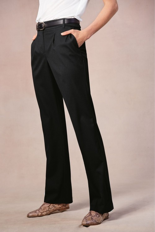 Next Tailored Wide Leg Trousers-Tall