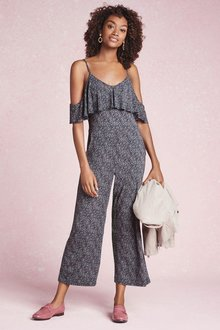 Next Ditsy Jumpsuit-Tall