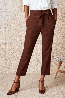 Next Tie Waist Trousers-Tall
