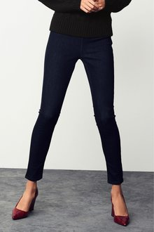 Next Ankle Length Denim Leggings-Petite