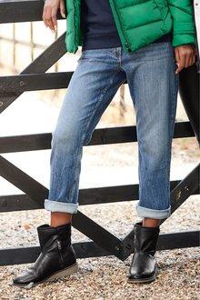 Next Slim Boyfriend Ankle Jeans-Petite
