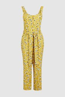 Next Floral Print Jumpsuit-Petite