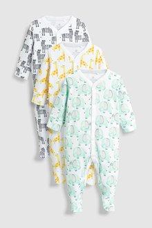 Next Safari Character Sleepsuits Three Pack (0mths-2yrs)