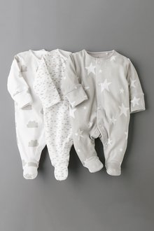 Next GOTS Certified Organic Cotton Sleepsuits Three Pack (5-12mths)
